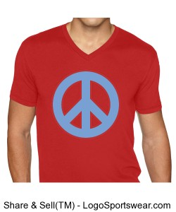 Peace V-neck Design Zoom